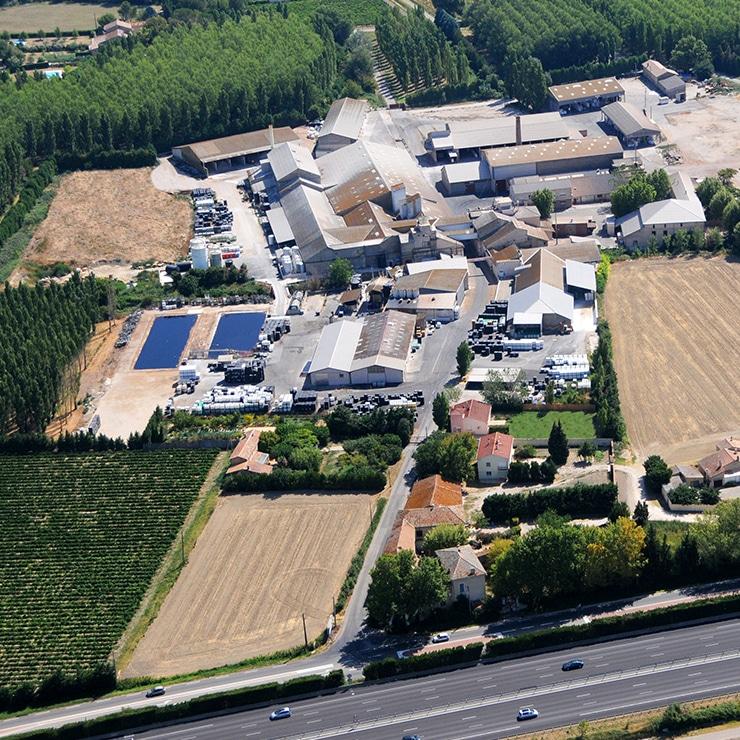 Nossa planta de produção no sudeste da França